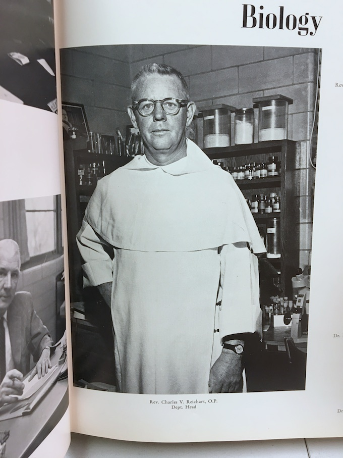 Father Reichart at Providence College
